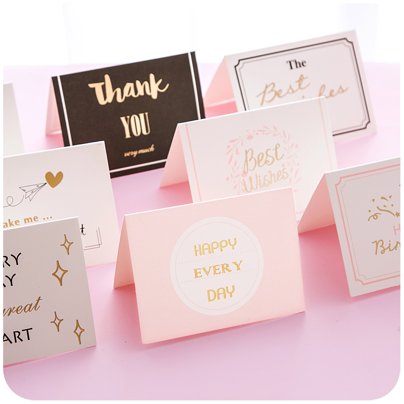 1pc gilding birthday greeting cards blank new year greeting postcard creative mini card christmas card in cards invitations from home garden on
