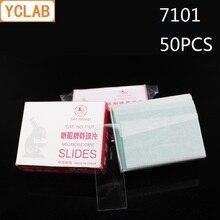 Yclab 50 Pcs 7101 Microscopio Presentazioni Aziende Produttrici Giochi Chiaro Vetro Smerigliato Bordi Attrezzature di Laboratorio Medico
