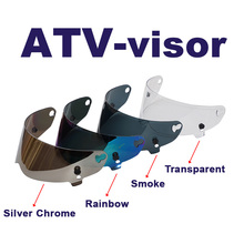 1/ps Vcoros helmet lens ATV Series helmet PC shield CRG visor for motorcycle helmet lens  4 colors  silver black, clear rainbow