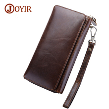 Joyir New Arrival Men's Genuine Leather Wallets Long Purse Men Luxury Cow Wallet Men Real Leather Casual Long Clutch Wallet 9376