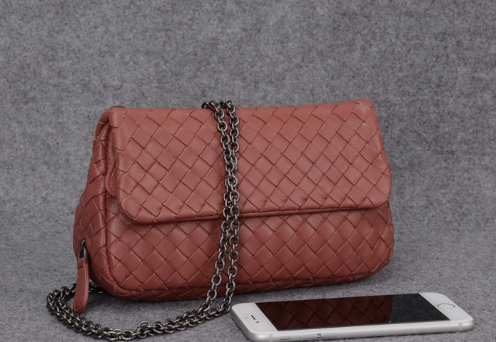 2018Brand Crossbody Bags Sheepskin Handmade Woven Women Bag Designer Handbags High Quality Chain Messenger Bag