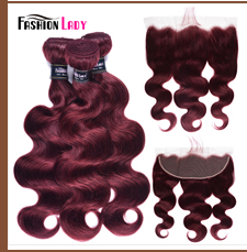 HTB1F9mjdqSs3KVjSZPiq6AsiVXaQ Fashion Lady Pre-Colored Ombre Brazilian Hair 3 Bundles With Lace Closure 1B/ 99J Straight Weave Human Hair Bundle Pack Non-Remy