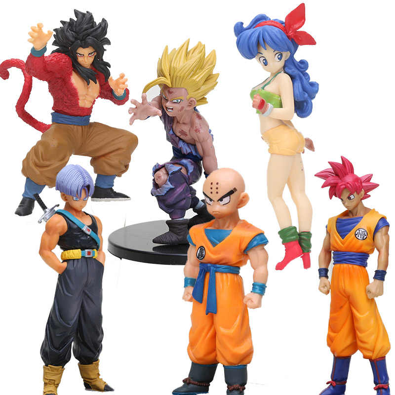 Anime Dragon Ball estilo criança goku Trunks Vegeta lunchi 1/8 scale Collectible Modelo Dragon Ball Z Figura de Ação DO PVC Brinquedos