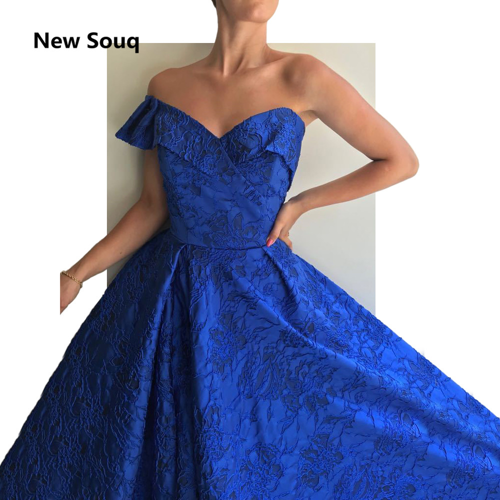 Royal Blue Full Lace Evening Dresses Sexy One Shoulder Side Split Sweep Train Long Prom Dress Custom Made Red Carpet Dress