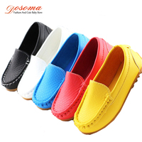 2015 New Spring Autumn Children Loafers Shoes Girls Boys Sneakers Toddler Kids PU Leather Casual Shoes