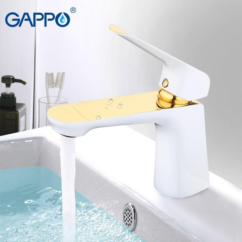 GAPPO basin faucets gold basin mixer faucet for bathroom sink faucets waterfall bathroom faucet mixer tap