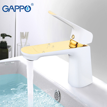 GAPPO basin faucets gold mixer faucet for bathroom sink waterfall tap torneira tapware