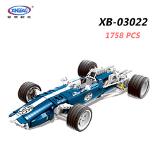 XINGBAO 03022 TECHNIC Car Series 1758PCS The Blue Racing Car Set Building Blocks Bricks Compatible Legoings Technic Car Juguetes цены