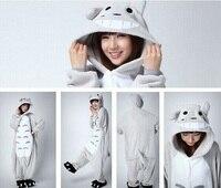 Free Shipping 2015 Fleece Unisex Adult Pajamas Animal Men And Women Sleepsuit Sleepwear