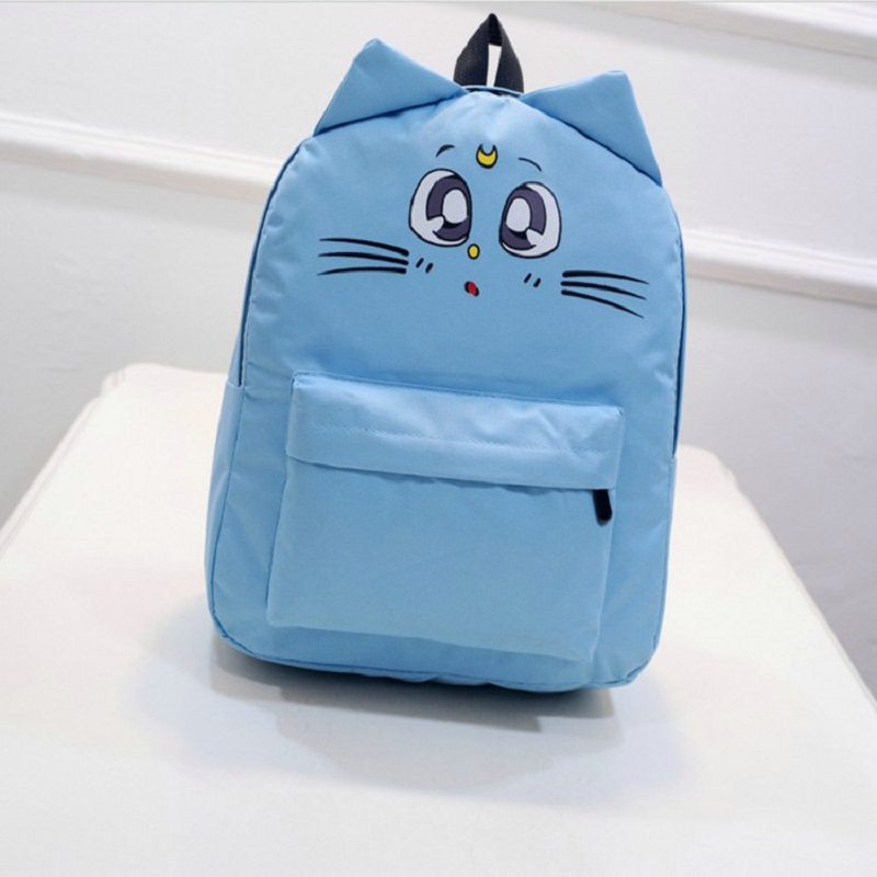 Cat Ears Casual Women Backpack Canvas Printing Backpacks for Teenage Girls Female Cute School Bag Bagpack mochila sac a dos купить