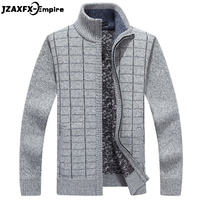 New Arrival Men Autumn Cardigan Sweaters Zipper Design Winter Warm Thicken Sweater for men Stand Collar Mens Sweaters