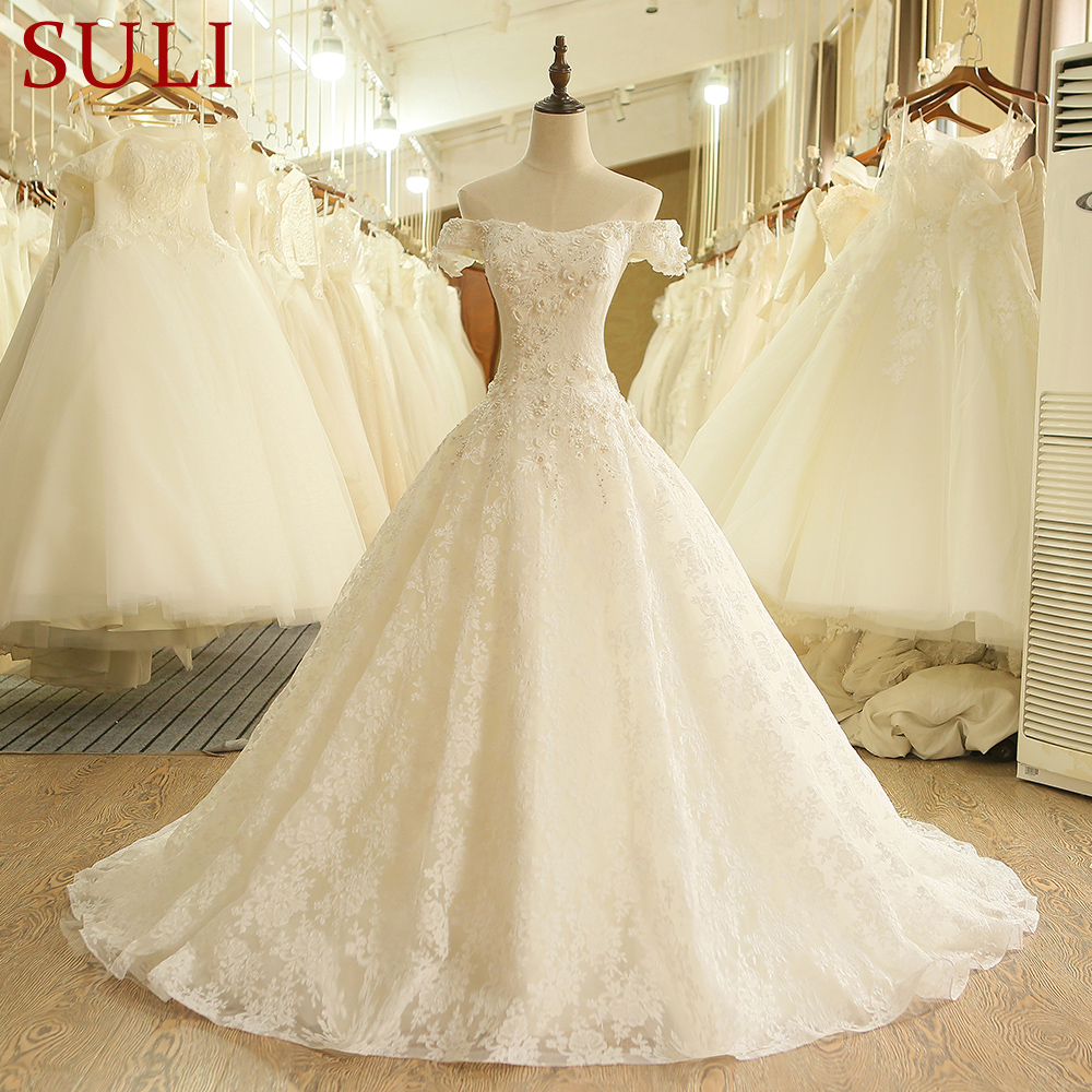 Sl-407 Высокое качество линии Винтаж Кружево Китай свадебное платье 2017