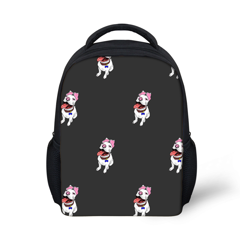 Children Kindergarten School Bags Girls Bull Terrier Print Schoolbag Kids Boys Small School Shoulder Backpack