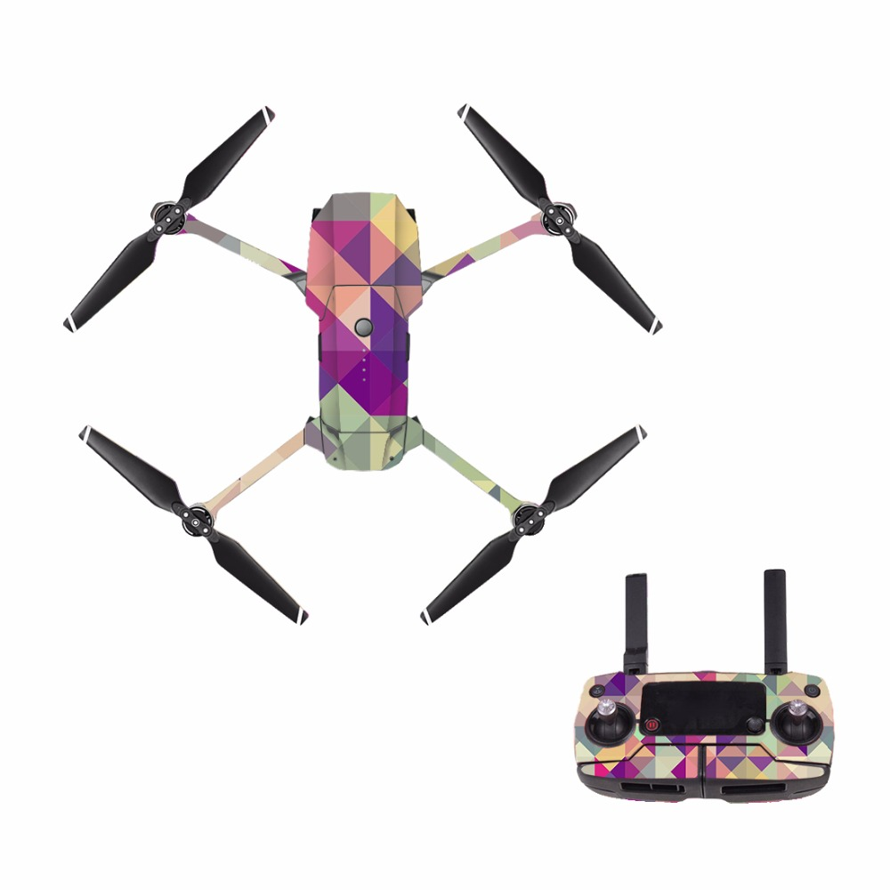 Carbon Fiber Sticker Skin Wrap Decals for DJI Mavic Pro font b Drone b font and