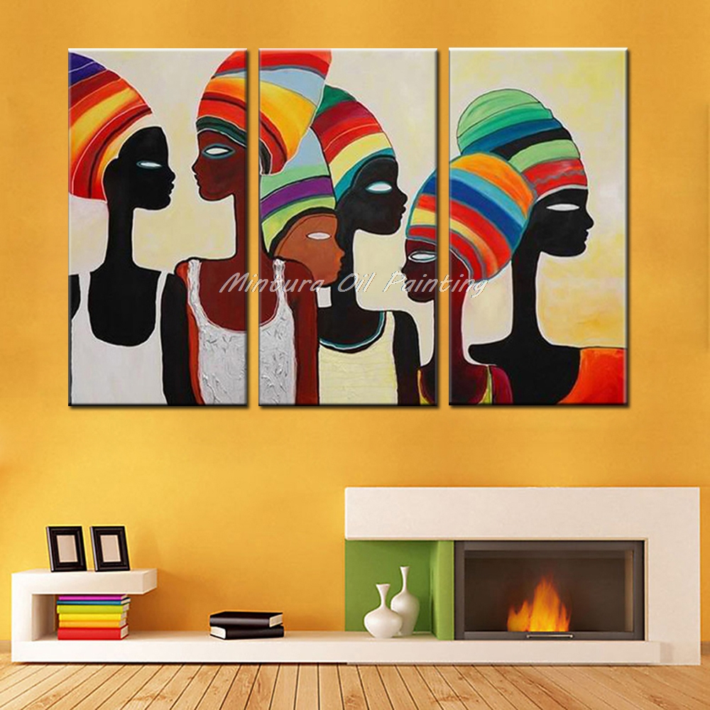 Mintura Art Decorative Wall Painting African Woman Paintings Modern ...