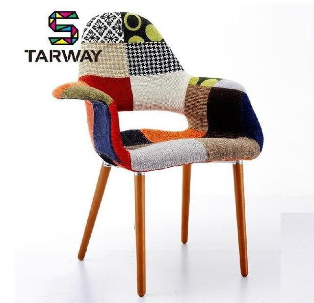 Meilleur créateur de mode meubles simple pachwork fauteuil