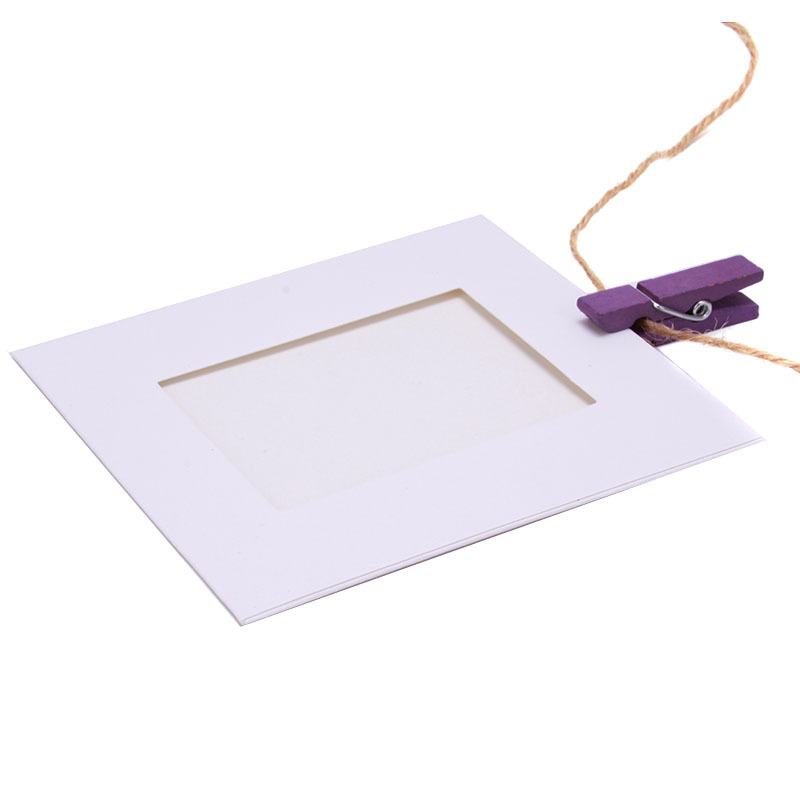 10X Paper Photo Frame Picture Hanging Album Frame Gallery With Hemp ...
