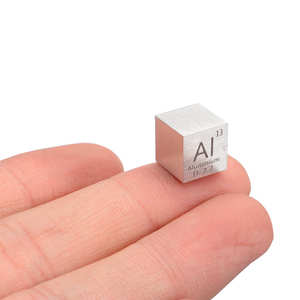 Image 3 - 1pcs 99.99% High Purity Aluminum Alloy Element Cube 10mm Metal Density Cubes Carved Element Periodic Table Cube