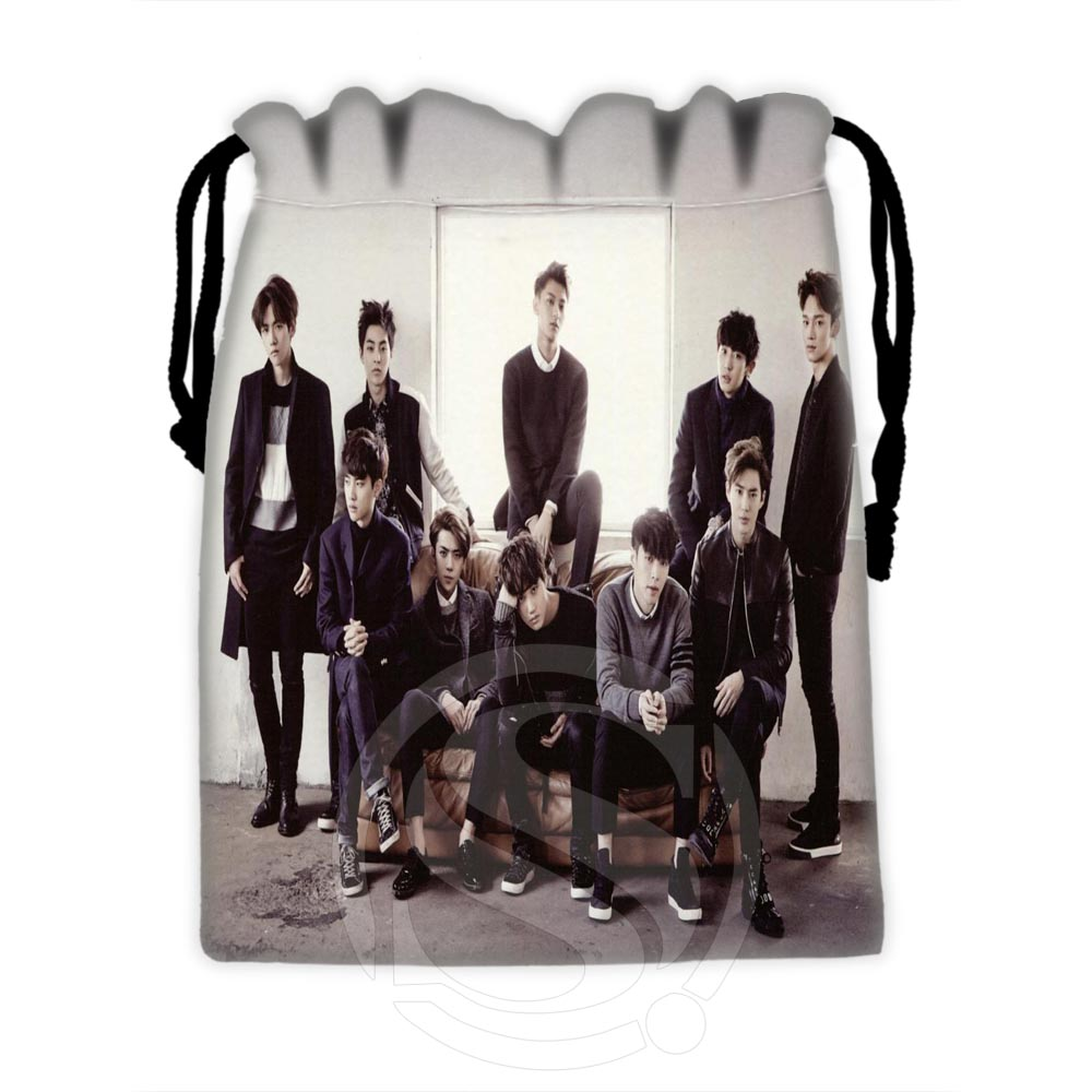 Custom EXO 2 drawstring bags for mobile phone tablet PC packaging Gift Bags18X22cm SQ00729 H0605