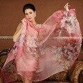 Высокое качество 100% шелк тутового шарф природный настоящее шелковый Женщины Длинные шарфы Шали Женский хиджаб wrap Summer Beach Cover-ups P11