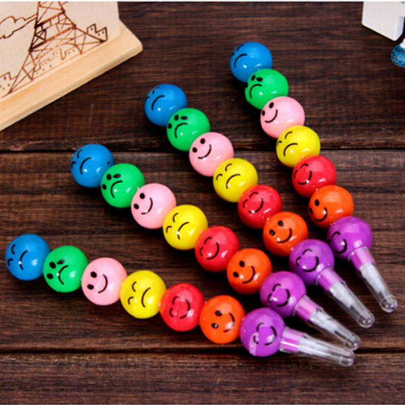 kawaii 1 Pieces Smiley Face Pencils Expression Pencil New Stationery Pencil Creative Kid Student Children Gifts Prize