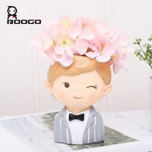 Image 3 - Accesorios de decoración del hogar maceta decorativa pequeña maceta suculenta regalos de boda Regalo de Cumpleaños decoraciones de escritorio