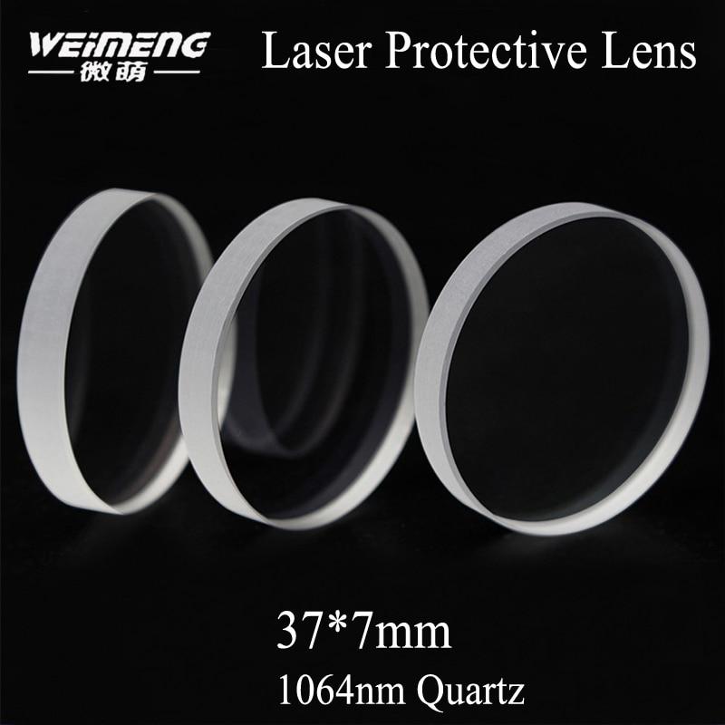 Janela de Proteção do Laser Material de Quartzo Plano para Máquina de Corte a Laser de Fibra Weimeng Milímetros Circular – 0 -3000 w Jgs1 37*7