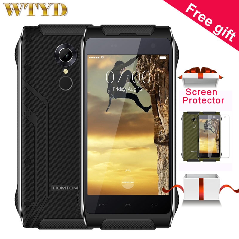 4G HOMTOM HT20 16GB 2GB IP68 Waterproof with Flashlight Fingerprint Recognition 4 7 Gorilla Glass Screen
