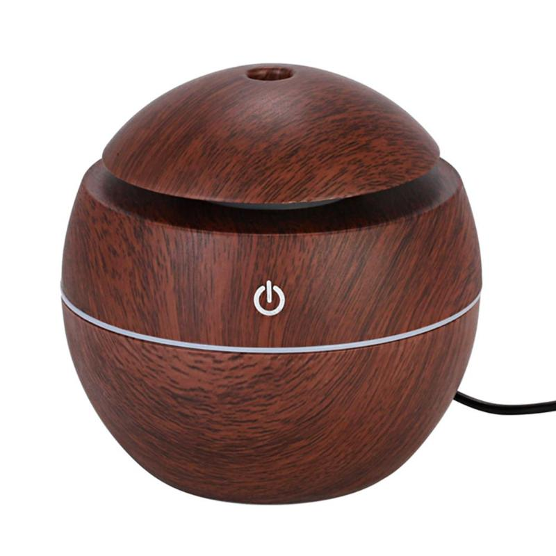 130Ml Ultrasonic Humidifier USB Aroma Diffuser Touch Control Mini Air Humidifier LED Light Aromatherapy Diffuser Mist Maker