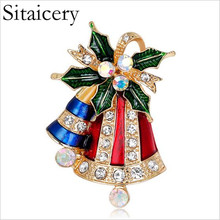 Sitaicery Creative Cartoon Christmas Brooches Pins Cute Exquisite Jingle Bells Socks Donuts Candy Enamel Pin Badges Brooch Kids