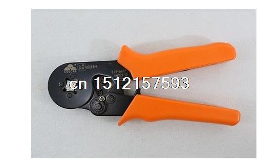 Mini Self-Adjustable Crimping Plier AWG 24-10 Capacity:0.08-6 mm awg24 10 cable end sleeves crimping plier c 0816 self adjusting ratcheting ferrule crimper0 25 16mm2