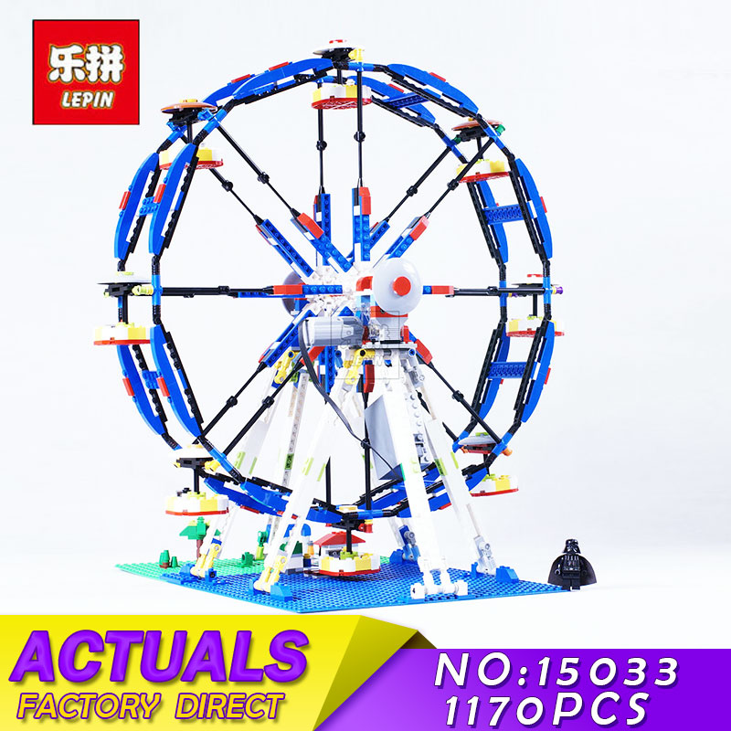 LEPIN 15033 Genuine Building Classic Series The Three-in-One Electric Ferris Wheel Set Building Blocks Bricks Toys Model 10247 15033 1170pcs building classic series the three in one electric ferris wheel set building blocks compatible with 4957 toy lepin