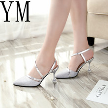 35-39 Spring heel High Heels Sandals Lady Pumps Classics Slip on Shoes Sexy  Women 1861e0b4fdf0