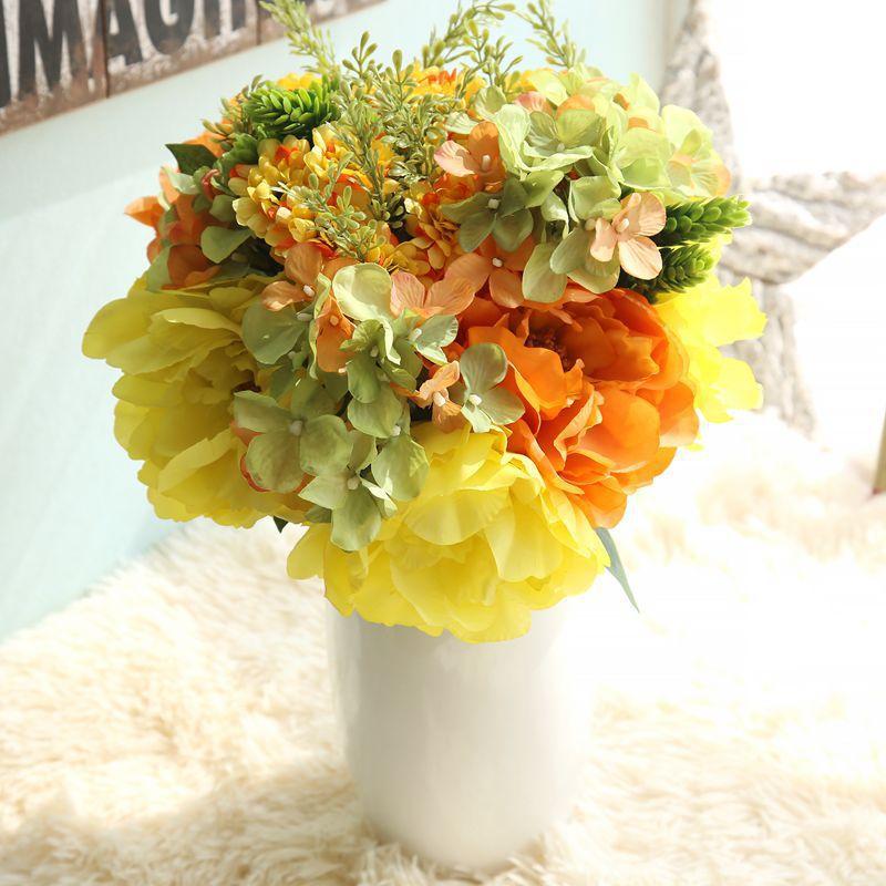 DIY Milan Peony Jasmine Tea to Home Furnishing decorative flowers wedding bouquet flower