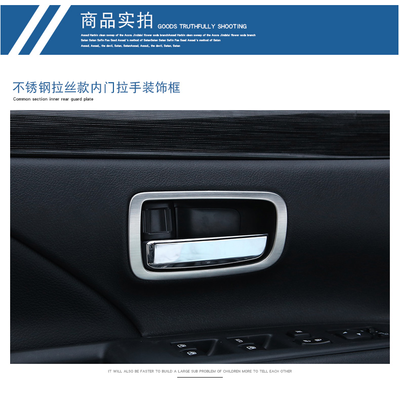 Inner Door Handle Cover Trim Car Accessories Interior Door Handle Ring For  Mitsubishi Outlander 2015 2016 -in Chromium Styling from Automobiles &