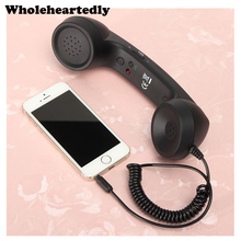 Receptores de teléfono móvil auricular Retro receptor de teléfonos para interfaz de teléfono móvil de 3,5mm para iPhone 4 4s 5 6 6s