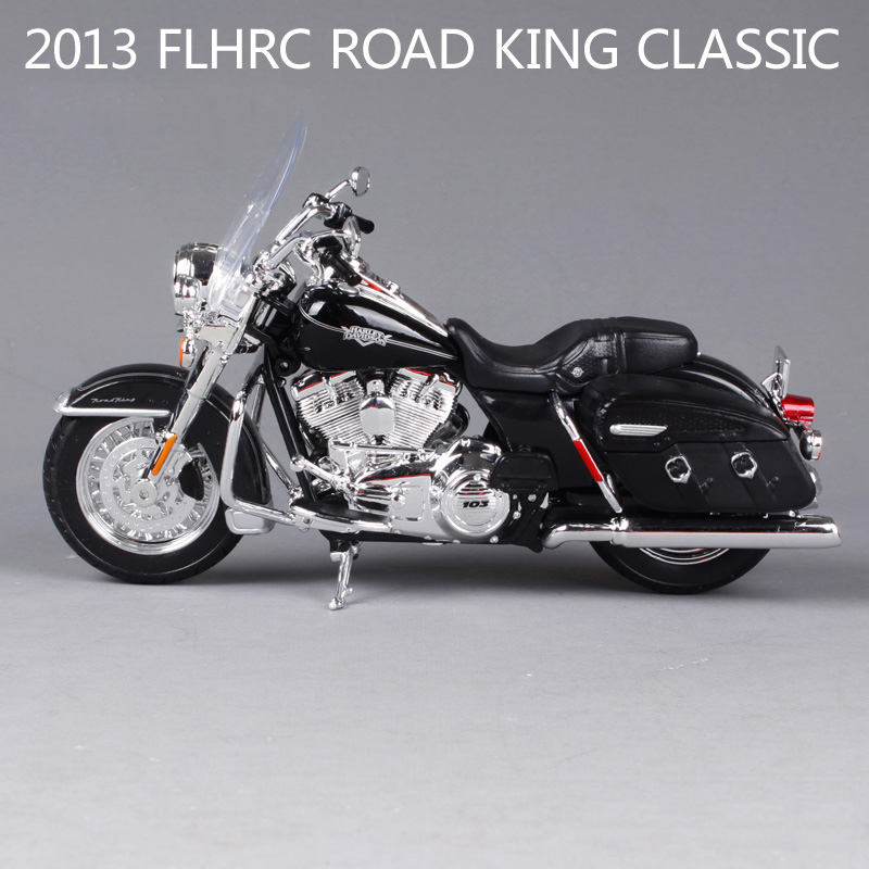 HD roadking classic motorcycle model 1:12 scale metal diecast models motor bike miniature race Toy For Gift Collection