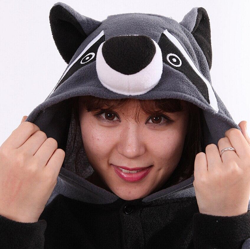 Cosplay Costume Cartoon Adult Kafshëve Raccoon Grey Unisex Onesie - Kostumet - Foto 6