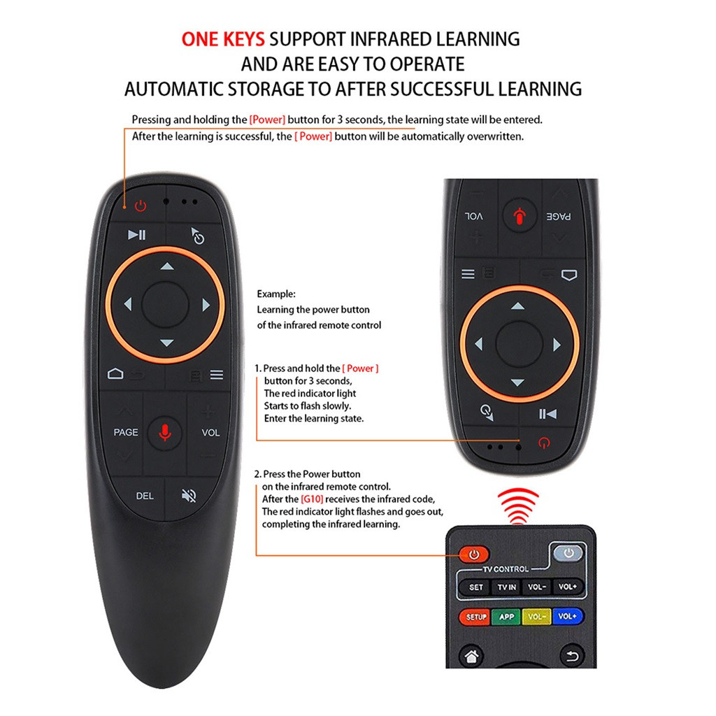 VOBERRY Microphone Smart-Keyboard Remote-Control Wireless-Mouse Gyroscope Gravity-Sensor
