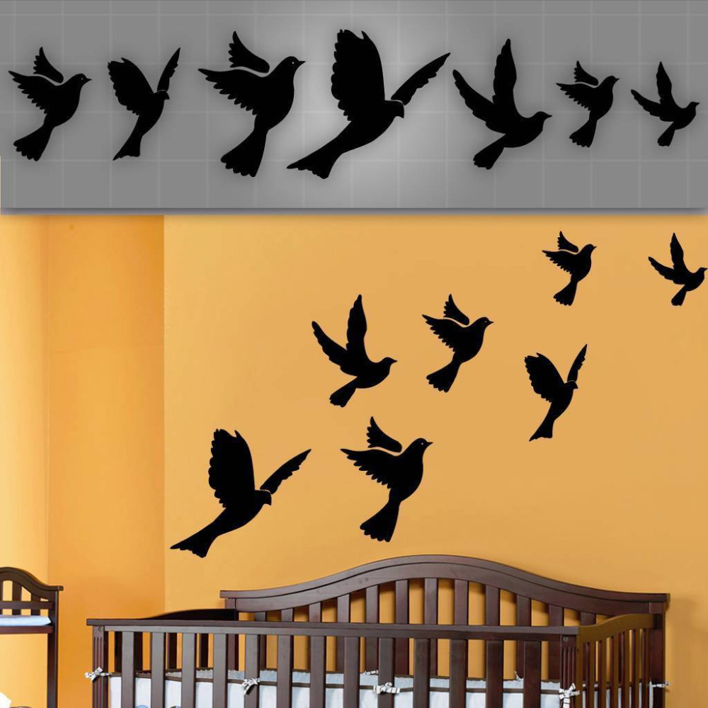 Enchanting Birds In Flight Metal Wall Decor Sketch - Art & Wall ...