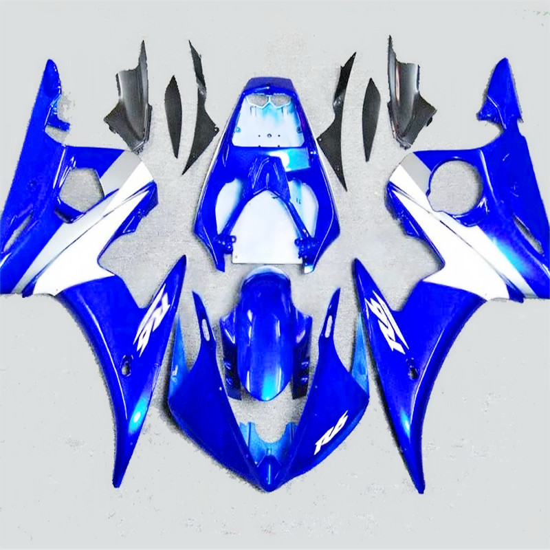 white Blue Fairings set for <font><b>YAMAHA</b></font> <font><b>R6</b></font> 1998 1999 2000 2001 2002 YZFR6 <font><b>body</b></font> parts <font><b>kit</b></font> yzf-<font><b>r6</b></font> 98 99 00 01 02 fairing <font><b>kits</b></font> image