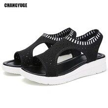2019 Breathable Comfort Shopping Fashion Women Sandals For Ladies Walking Shoes Summer Platform Black Sandal