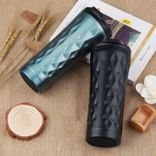 500ml Double Stainless Steel Car Coffee Mug Thermos Cup Travel Tea Mug Thermal Water Bottle Thermocup Tumbler Insulated Bottle