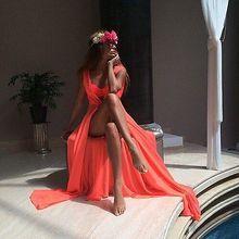 New Sexy Women Bathing Suit Chiffon Swimwear Beach Maxi Long Dress