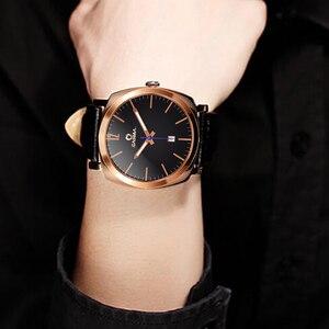 Image 5 - CASIMA Rose Gold Watch Men Luxury Brand Waterproof Luminous Business Calendar Quartz Wrist Watch Clock Saat Relogio Masculino