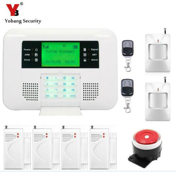 Yobang Security GSM Alarm System With PIR Infrared Detector Motion Sensor For GSM/ PSTN Alarm System Wireless Home Alarm big promotions pir infrared beam motion detector for home security gsm wifi pstn alarm system wired wireless beam sensor