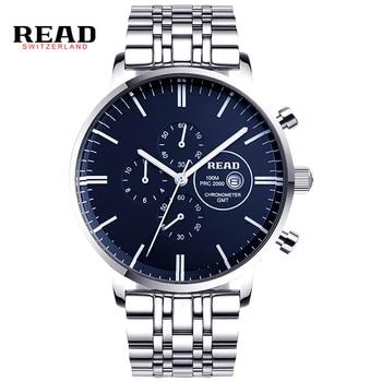 READ watches Mens Watch Chronograph Mens Fashion multifunctional quartz watch R7006 дамски часовници розово злато