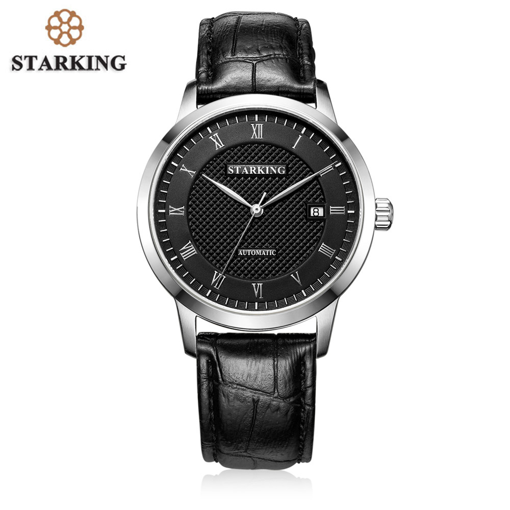 STARKING Brand Business Men Mechanical Watches Genuine Leather Band Casual Men'S Automatic Watches Male Clock Relogio Masculino forsining fashion brand men simple casual automatic mechanical watches mens leather band creative wristwatches relogio masculino