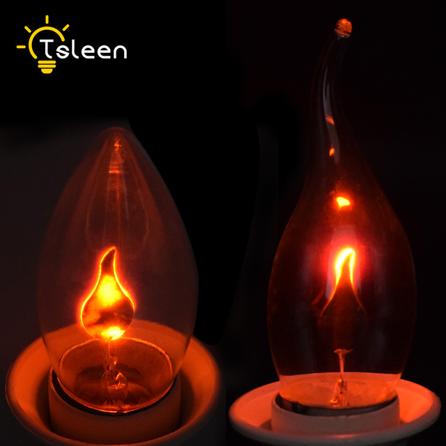 Flickering Flame Edison Bulbs 220V Bathroom Kitchen Candle Tail