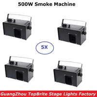 4Pcs New Arrival 500W Fog Machine Smoke Mist Haze Machine Stage Light Equipment Disco DJ Party Light Shows Projector Home Fogger